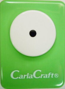 ●取寄品●【クラフトパンチ/Carla Craft】サークル/手紙やカードのワンポイント!スクラップブッキング型抜きパンチング/紙をはさんで押すだけ♪