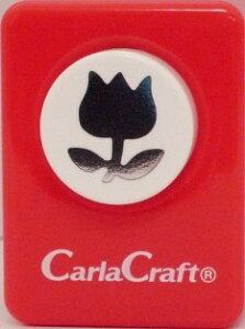 ●取寄品●【クラフトパンチ/Carla Craft】チューリップ−A/手紙やカードのワンポイント!スクラップブッキング型抜きパンチング/紙をはさんで押すだけ♪【メール便不可】