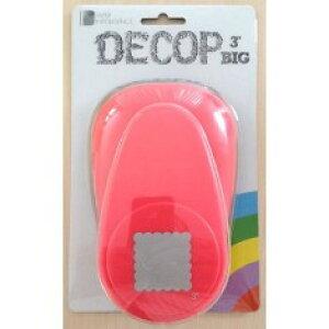 ●取寄品●【クラフトパンチ/DECOP】BIG3 スキャロップ スクエア/手紙やカードのワンポイント!スクラップブッキング型抜きパンチング/大きいサイズの穴開けパンチ紙をはさんで押すだ