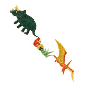 ●取寄品●恐竜アイロンワッペン (3パック)入園準備入学進級 幼稚園や保育園小学校持ち物名前名札