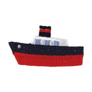 ●取寄品●船アイロンワッペン (3パック)入園準備入学進級 幼稚園や保育園小学校持ち物名前名札