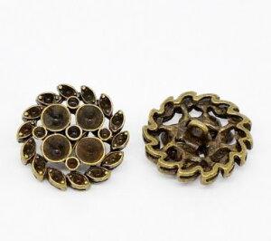 メタルボタン1個アンティーク風のデザインボタン アクセサリーパーツにも使える金属製ボタン/23mm