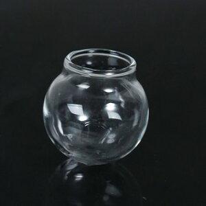【ガラスボトル】(1個)ミニサイズのガラス瓶(フタなし)/ビーズ・パーツの仕分けコレクションに多肉植物にUVレジンアートに/30mm×31mm[ゆうパケット不可]