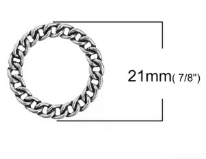 ●取寄品●【メタルチャーム】100個パック [リング型]/アクセサリーチャームアクセサリーパーツ/ピアスイヤリングネックレスなどに/21mm