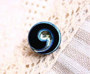 チェコボタン 1個 ガラスボタン 輸入ボタンアクセサリー素材チェコガラス/サイズ13.5mm