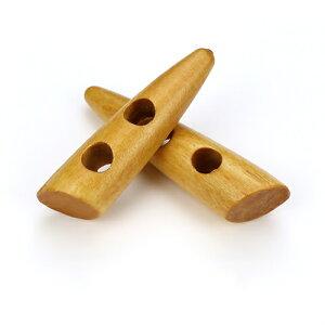 トグルボタン 20個 ウッドボタン木製ボタン 巾着袋口留めループエンド手芸コートボタン/55mm