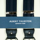 ALBERT THURSTON アルバートサーストン サスペンダー メンズ Y型 2WAY 英国製 濃紺シャドーストライプ 送料無料 サーストン ブランド アルバート・サーストン ブレイシス ブレイシーズ 紳士 男 男性用 2283-1122【楽ギフ_包装】