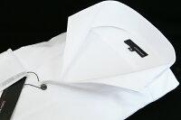 【送料無料】【大きいサイズ】イタリアンスタンドカラーシャツ☆COSTAVARIO☆白織柄ストライプ☆GTD033-003スタンドカラーシャツ