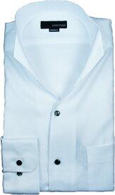 イタリアンカラーシャツ メンズ | スタンドカラーシャツ COSTA VARIO 長袖 白 ヘリンボン 日本製 ワイシャツ ビジネス 襟 イタリアンカラー スタンドカラー シャツ ドレスシャツ おしゃれ 色 柄 着こなし コーデ おすすめ 通販 送料無料 GTD33-009