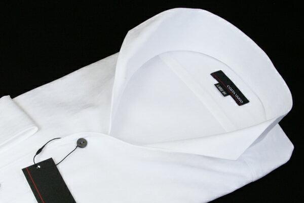 イタリアンスタンドカラーシャツ イタリアンカラーシャツ メンズ COSTA VARIO 日本製 綿100% 白 ダイヤ 織柄 長袖 イタリアンカラー スタンドカラー シャツ ワイシャツ ビジネスシャツ UWD002-600