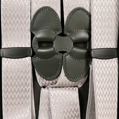 サスペンダー メンズ Taniwatari タニワタリ ブランド ホルスター ホルスター型サスペンダー サイド吊り 2点留め シルバー グレー 30mm 空港 セキュリティチェック対応 ポリカーボネイト 日本製 ブレイシス ブレイシーズ 送料無料 sc4433gray
