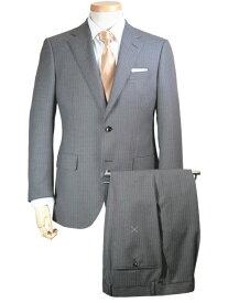 スーツ   メンズ ビジネススーツ メンズスーツ スタンダード レギュラー シングル 2ボタン ワンタック ストライプ グレー 春 春夏 紳士 男性 40代 50代 ベーシック 着こなし コーデ おしゃれ おすすめ 送料無料 141285-43