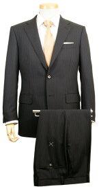 スーツ   メンズ ビジネススーツ メンズスーツ スタンダード レギュラー シングル 2ボタン ワンタック ストライプ 黒 ブラック 春 春夏 紳士 男性 40代 50代 ベーシック 着こなし コーデ おしゃれ おすすめ 送料無料 141285-13