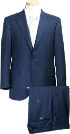 スーツ | メンズ ビジネススーツ メンズスーツ スタンダード レギュラー シングル 2ボタン ワンタック ストライプ 紺 ネイビー 秋冬 春 紳士 男性 40代 50代 ベーシック 着こなし コーデ おしゃれ おすすめ コスパ 送料無料 A18510