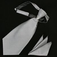 アスコットタイ☆ポケットチーフ付き