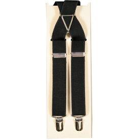 定番サスペンダー黒はフォーマルにビジネスに使えます!! サスペンダー 黒 ブラック X型 ブレイシス ブレイシーズ ズボン吊り メンズ 紳士 男 男性用 y44black