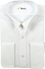 【 日本製 】 ウィングカラーシャツ 白 ダブルカフス モーニング ウイングシャツ シャツ ワイシャツ フォーマル FORMAL メンズ Men's 紳士 男 男性用 結婚式 披露宴 39