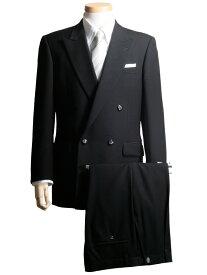 E3 E4 E5 E6 E7 E8 フォーマルスーツ メンズ 礼服 大きいサイズ 黒 ブラック ピークラペル 4ボタン ブラックフォーマル 濃染 超黒 日本製生地 本台場 スリーシーズン対応 紳士 男 男性用 葬式 結婚式 S606-1 送料無料