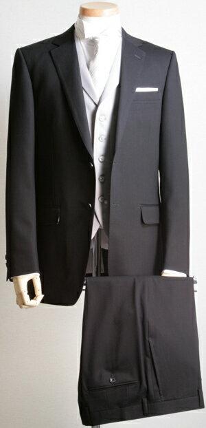 【曲げられない女に衣装提供】フォーマルスーツ(ブラックスーツ)ノータック DC1010【スリムタイプ】【送料無料】