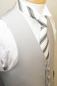 【日本製】【BB体E体】 モーニング用ベスト シルバーグレー メンズ モーニングコート モーニング フォーマルベスト ベスト グレー フォーマル チョッキ ジレ ウエストコート 結婚式 衣装 着こなし 男性用 V763