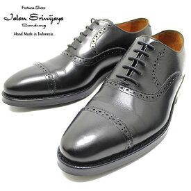 JALAN SRIWIJAYA ジャランスリウァヤ 98409 クオーターブローグ ダイナイトソール BLACK ビジネス/ドレス/紐靴/革靴/メンズ