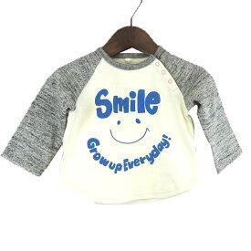 【SALE 50%OFF】hua kupu(フアクプ) SMILE ラグランL/S TEE(70-80)【楽ギフ_のし宛書】 ベビー 長袖Tシャツ 男の子 女の子