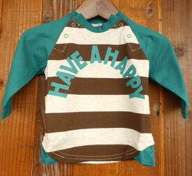 【SALE 50%OFF】hua kupu(フアクプ) HAPPY L/S TEE 長袖Tシャツ (70-80)【楽ギフ_のし宛書】 ベビー 男の子