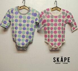 SKAPE(エスケープ)接結天竺 長袖ボディーシャツ DOT (70-90) ベビー 子供 綿100 男の子 女の子