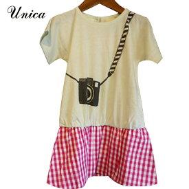 【SALE 50%OFF】UNICA(ユニカ) カメラ女子 ワンピース (90-150) おしゃれ キッズ 女の子 かわいい 子供服