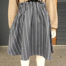 【SALE 50%OFF】UNICA(ユニカ) ストライプ タックスカート (90-150)おしゃれ キッズ 女の子 かわいい 子供服