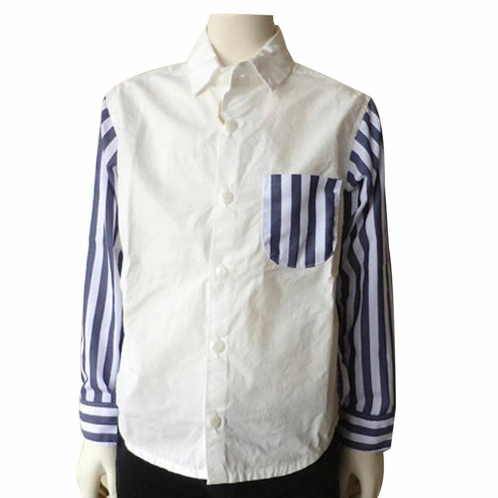 FABRIQ REPORT(ファブリックレポート)切り替えシャツ (90-130) おしゃれ キッズ 男の子 女の子 かわいい 子供服 フォーマル 日本製