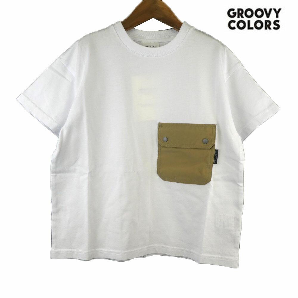 GROOVY COLORS(グルービーカラーズ) POCKET BIG TEE (90-140) 半袖Tシャツ おしゃれ キッズ 男の子 かわいい 子供服