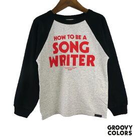 GROOVY COLORS(グルービーカラーズ) テンジク SONGWRITER ラグラン L/S TEE (90-140) 半袖Tシャツ おしゃれ キッズ 男の子 かわいい 子供服