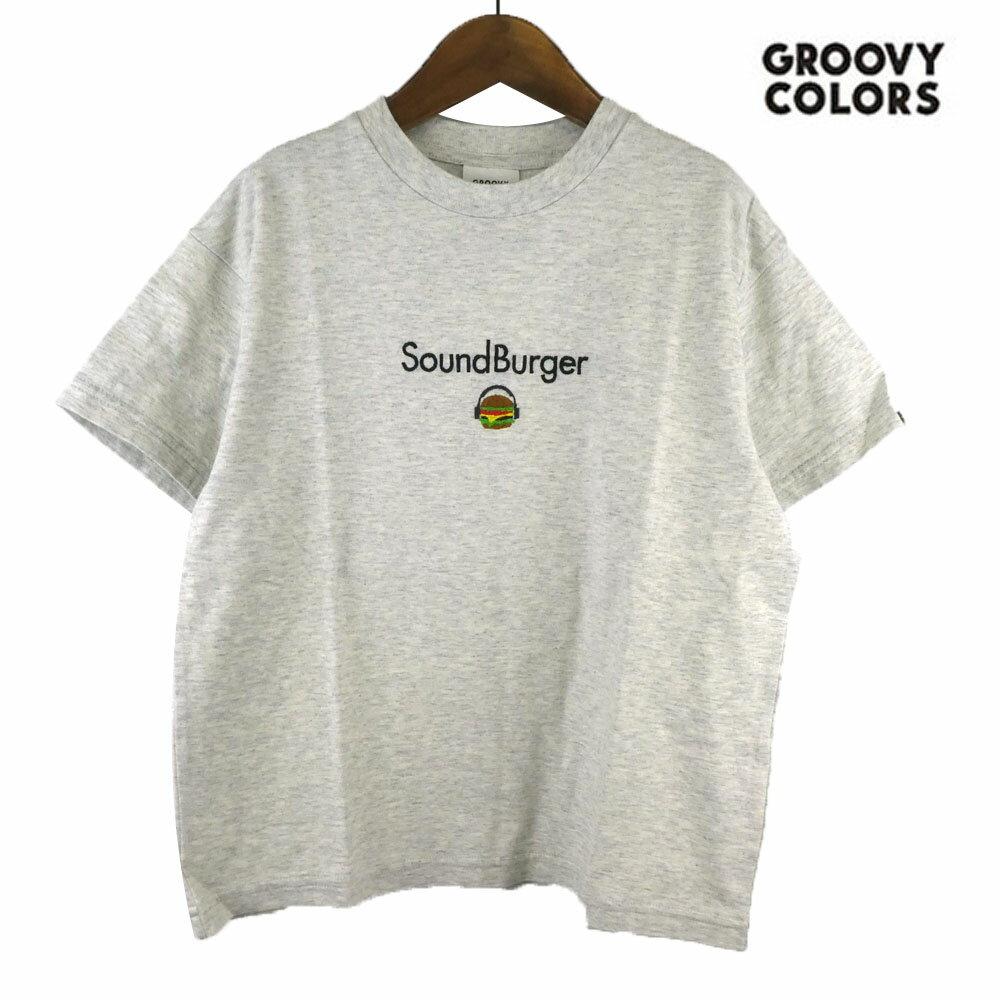 GROOVY COLORS(グルービーカラーズ) テンジク SOUND BURGER BIG TEE (90-140) 半袖Tシャツ おしゃれ キッズ 男の子 かわいい 子供服
