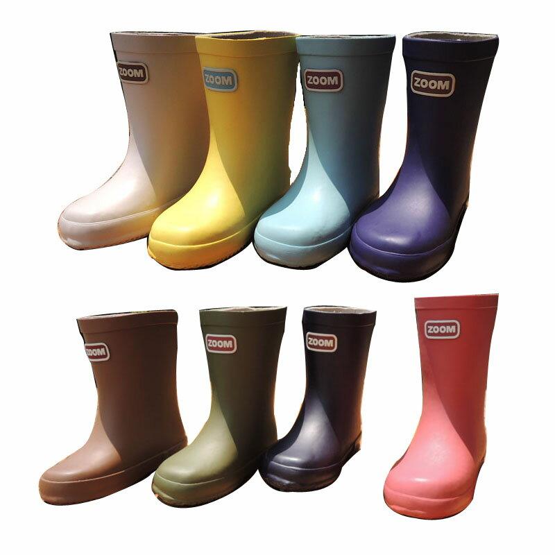 ZOOM(ズーム) RAIN BOOTS レインブーツ 長靴 (13-22) おしゃれ キッズ 防寒 男の子 女の子 かわいい 子供 ピンク
