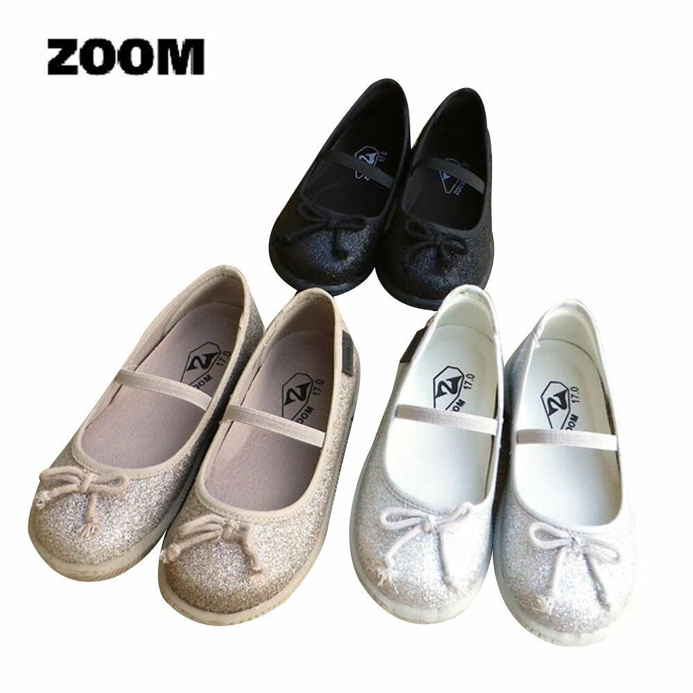 ZOOM(ズーム) LAME BALLET 【送料無料】 (15-18) 靴 おしゃれ キッズ 女の子 スリッポン かわいい 子供 黒 ピンク 入学式