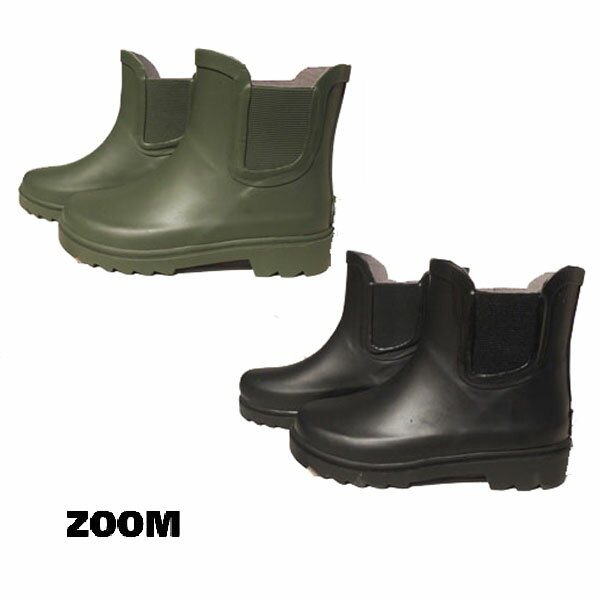 ZOOM(ズーム) RAIN BOOTS サイドゴア レインブーツ 【送料無料】長靴 (15-22) おしゃれ キッズ 防寒 男の子 女の子 かわいい 子供