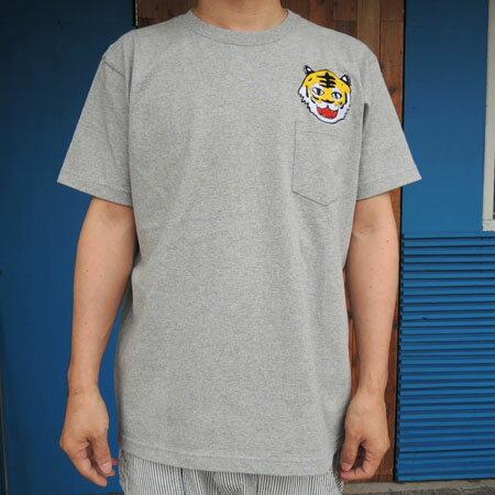 MOMENT(モーメント) faTIGER face emb ポケットTシャツ メンズ (M-L) 半袖Tシャツ おしゃれ メンズ お揃い