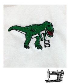 MOMENT(モーメント) ダイナソー emb Tシャツ 名入れ刺繍 (90-160) 恐竜 半袖Tシャツ おしゃれ 男の子 女の子 かわいい 子供服