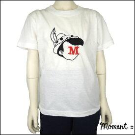 MOMENT(モーメント) Adventure イニシャル刺繍 Tシャツ (90-160) 半袖Tシャツ ギフト プレゼント オリジナル おしゃれ 男の子 女の子 かわいい 子供服