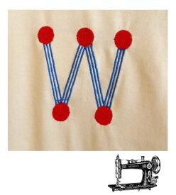 W イニシャル 名入れ 刺繍注文 リュック代金別途必要 ギフト 子供  かわいい 遠足 通園