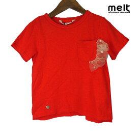 【SALE50%OFF】melt(メルト) フリルポケットTEE(90) 半袖Tシャツ おしゃれ キッズ 女の子 かわいい 子供服