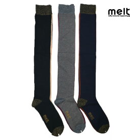 melt(メルト) バイカラー オーバーニーソックス (16-24cm) 靴下 ニーハイ おしゃれ キッズ 女の子 かわいい 子供服