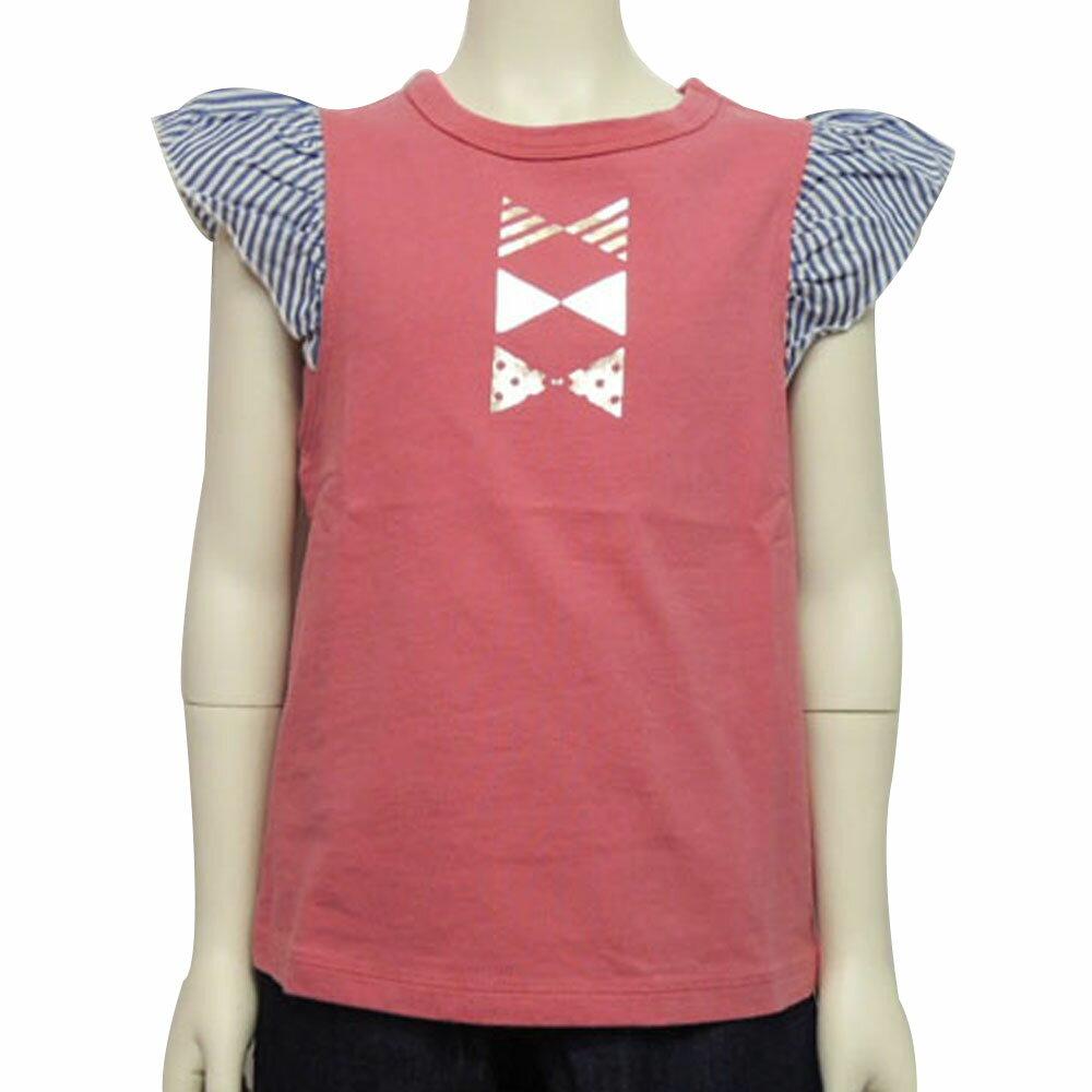【SALE 30%OFF】SOLBOIS(ソルボワ) クレア天竺xストライプ フリルTEE (80-120) 半袖Tシャツ おしゃれ キッズ 女の子 かわいい 子供服