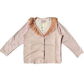 【SALE 40%OFF】LaLa Dress(ララドレス) ラメフリルカーデ (80-140) カーディガン 入学式 おしゃれ キッズ 女の子 かわいい 子供服 日本製