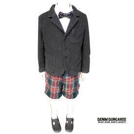 【SALE50%OFF】DENIM DUNGAREE ( デニム&ダンガリー) リクラインドクロスJK & ネップチェックパンツ (130-140) 入学 卒業式 子供服 男の子 フォーマルスーツ 男の子