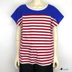 【SALE 40%OFF】MIRACO(ミラコ) ボーダー Tシャツ (90-140cm) 半袖 子供服 キッズ おしゃれ 男の子 女の子