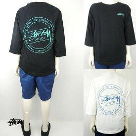 STUSSY(ステューシー) KIDS LAGUNA DOT RAGLAN 7分袖Tシャツ (90-130) おしゃれ キッズ 子供服 男の子 女の子