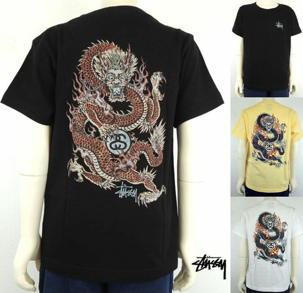 STUSSY(ステューシー) KIDS FIRE DRAGON TEE (90-150) 半袖Tシャツ キッズ 男の子 女の子 子供服