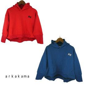 arkakama (アルカカマ)TONGARI ワイド パーカー (XL-XXL) スウェット 長袖 子供服 男の子 女の子 ジュニア おしゃれ